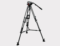 Manfrotto 504HD Head w/ 546B 2 Stage Tripod System - Video Accessory & Rental Poducts
