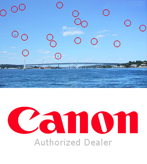 Authorized Canon Dealer: Lens Calibration & Camera Sensor Cleaning